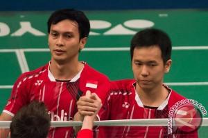 Dua ganda putra Indonesia ke putaran kedua Denmark Terbuka