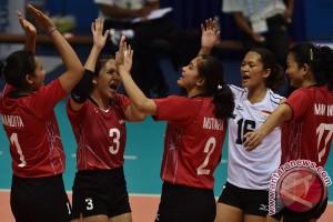 Voli putri Indonesia lolos dari rintangan pertama