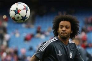 Bek Real Madrid, Marcelo, alami dislokasi bahu