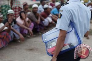 Polisi geledah barak penampungan Rohingya di Aceh Utara