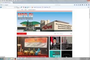 Usai diretas, situs web MPR kembali pulih