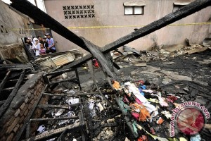 Rumah jabatan Kapolretabes Makassar terbakar
