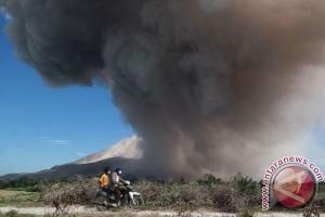 Aktivitas vulkanik Gunung Sinabung masih tinggi