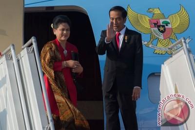 Presiden Jokowi kembali ke Jakarta
