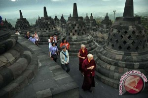 Candi Borobudur keliling Kota Frankfurt
