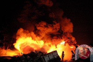 Markas besar kepolisian Malaysia terbakar