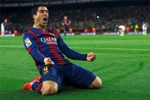 Luis Suarez cetak gol ke-100 untuk Barcelona