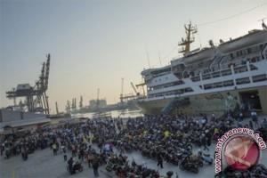 900 pemudik daftar kapal gratis Semarang-Jakarta