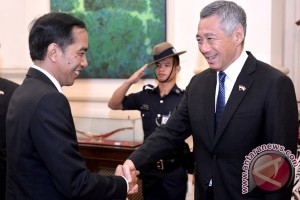 Presiden Jokowi-PM Singapura lakukan pertemuan bilateral di Semarang