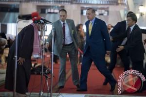 Presiden Jokowi sambut Presiden Turki di Istana Merdeka