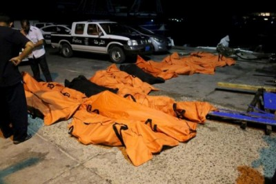 Migrant boat sinks off Libyan coast, kills at least 37