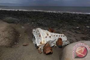 polisi cek benda jatuh diduga bagian pesawat terbang di Giliraja