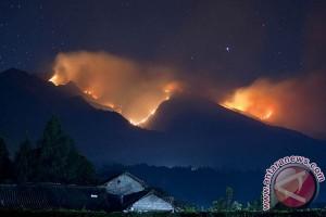 Kebakaran di Gunung Merbabu terus membesar