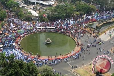 Aksi Buruh Jakarta