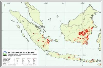 Satellites detect 63 hotspots in C. Kalimantan