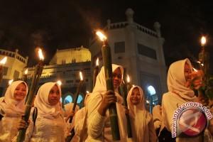 Umat Muslim Pontianak pawai obor sambut Ramadhan