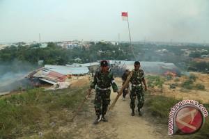 Tim gabungan gusur ratusan rumah tak berizin di Batam
