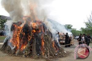 Polres Langkat musnahkan sabu-ganja senilai Rp1,2 miliar