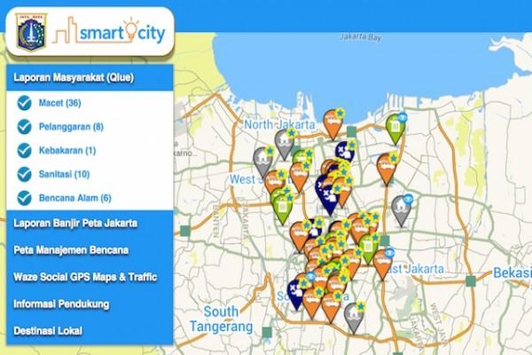 Baru 0,1 persen warga Jakarta aktif laporan di Qlue