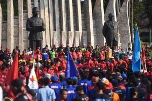 Buruh se-Jabodetabek akan berunjuk rasa ke Istana, Kamis