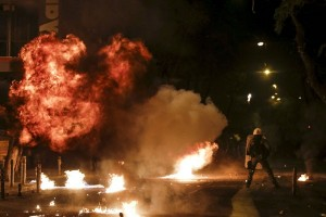Polisi tangkap pelempar bom molotov ke kantor bank