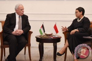 Indonesian, Palestinian foreign ministers hold bilateral meeting in Jordan