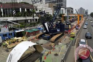 Arus lalu lintas sekitar Bundaran HI diubah demi proyek MRT
