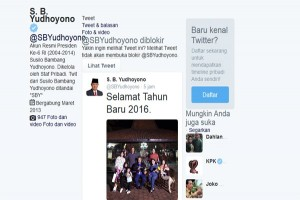 Tahun baru, SBY ajak netizen bersemangat baru