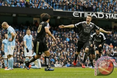 Manchester City dipermalukan Leicester 1-3