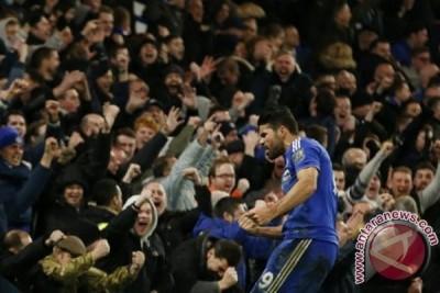 Diego Costa antar Chelsea imbangi Manchester United 1-1