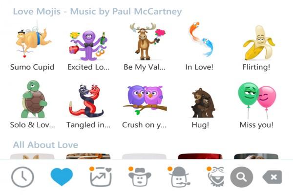 Tema cinta Skype sambut Valentine