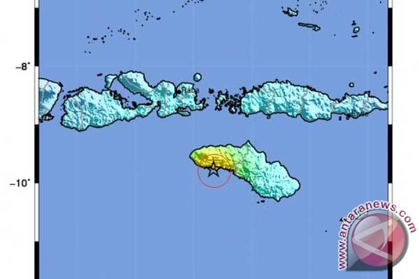 BPBD: gempa Sumba sebabkan pergeseran permukaan tanah