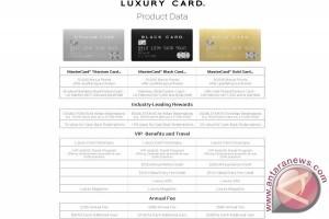 Luxury Card luncurkan tiga produk kartu kredit MasterCard berbahan logam yang inovatif