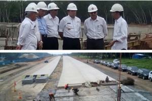 Presiden tinjau pembangunan Tol Bakauheni-Terbanggi Besar