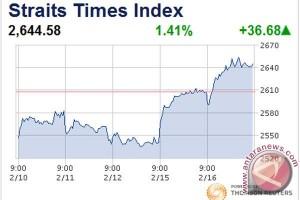 Bursa saham Singapura ditutup turun 0,14 persen