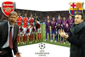 Liga Champions, data dan fakta Arsenal vs Barcelona