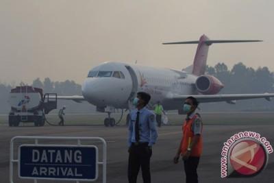 Penerbangan Bandara Dumai terganggu asap