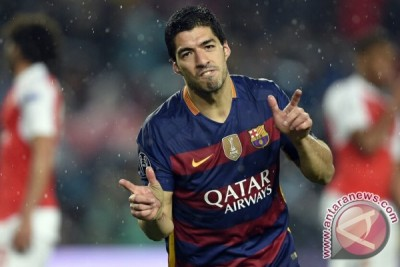 Luis Suarez pencetak gol terbanyak Liga Spanyol