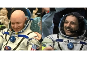 Kru stasiun antariksa kembali ke Bumi usai misi setahun