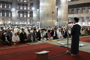 Shalat Gerhana Matahari Di Masjid Istiqlal
