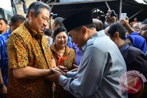Susilo Yudhoyono berikan dukungan moral kepada pasangan Tatto-Syamsul