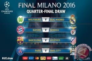 Hasil pengundian perempat final Liga Champions, Barcelona bertemu Atletico