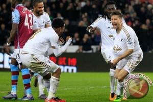 Kalahkan Everton 0-1, Swansea tinggalkan zona degradasi
