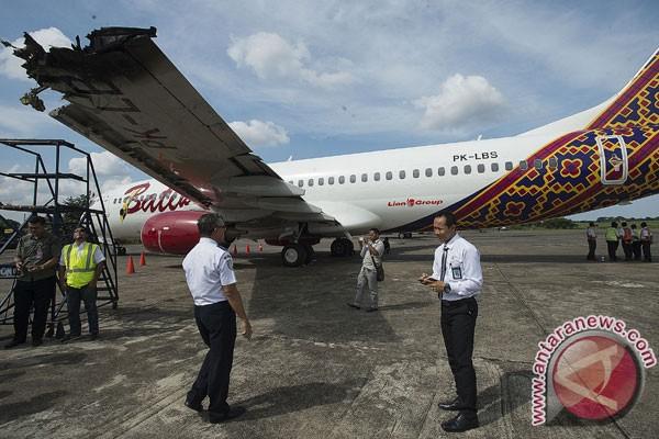 Insiden senggolan pesawat terbang di darat terjadi di Bandara Kualanamu