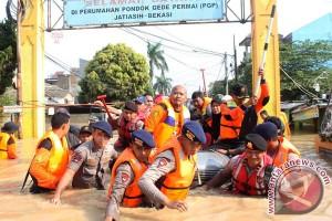 5.000 rumah terendam banjir akibat luapan Kali Bekasi
