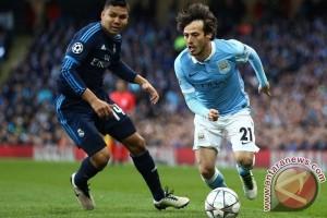 City vs Real 0-0 pada babak pertama, Silva cedera