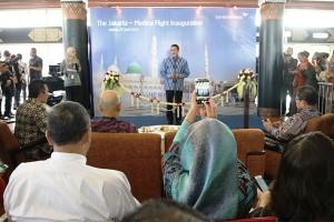 Peluncuran Perdana Rute Garuda Indonesia Jakarta - Madina