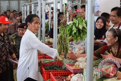 Presiden Joko Widodo Resmikan Pasar