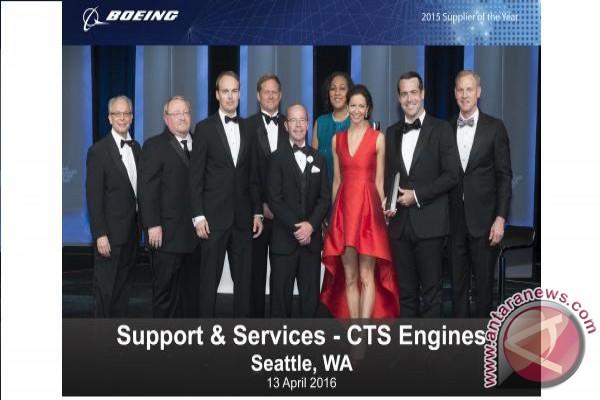 "CTS Engines raih penghargaan Boeing ""Supplier of the Year"" 2015"