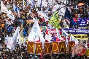 1.500 buruh meriahkan Hari Buruh Sedunia di Yogyakarta